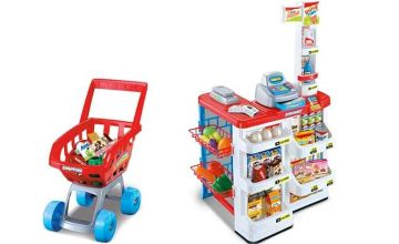 £24.99 instead of £79.95 (from CJ Offers) for a supermarket and trolley set - save 69%