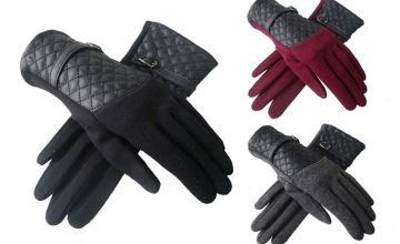 £6.99 (from Belle Accessories) for a pair of quilted panel strap gloves