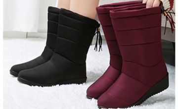 £16 instead of £39.99 (from Pinkpree) for a pair of warm faux fur lined boots - choose your colour and UK size and save 60%