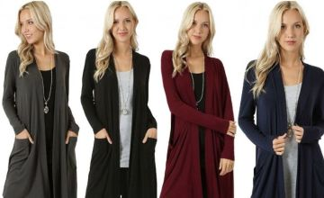 £8.99 instead of £29.99 for a lightweight long cardigan - choose from four colours from Backtogoo - save 70%