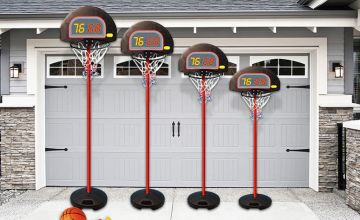 £16.99 instead of £60 (from Eurotrade) for a height-adjustable kids' basketball set - shoot some hoops and save 72%