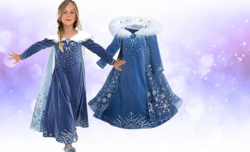 £12 instead of £54.99 (from Blu Fish) for a princess snowflake dress - choose from six sizes and save 78%