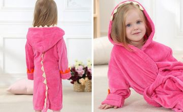 £11.99 instead of £37 (from Secret Storz) for a dinosaur hooded baby bathrobe - save 68%