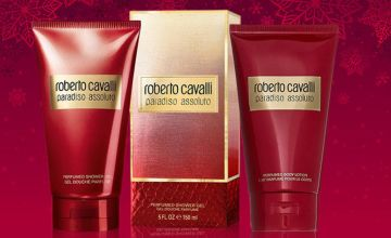 £5.99 for a bottle of Roberto Cavalli 'Paradiso Assoluto' shower gel or body lotion - save up to 62%