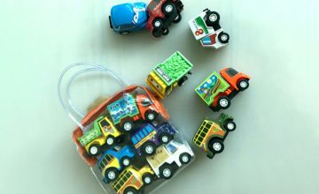 £5.99 instead of £19.99 (from Wow What Who) for a pack of six pull back truck toys, £10.99 for 12 cars, £15.99 for 18 cars or £16.99 for 24 cars - save up to 70%