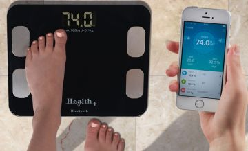 £19.99 instead of £39.99 (from CJ Offers) for a set of Health+ Bluetooth bathroom scales - choose from two colours and save 50%