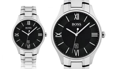 £129 instead of £346 (from Best Watch Company) for a men's Hugo Boss HB1513488 governor stainless steel watch - save 63%