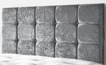From £25 (from Serenity Designs) for a crushed velvet cube headboard - choose from six sizes and save up to 55%