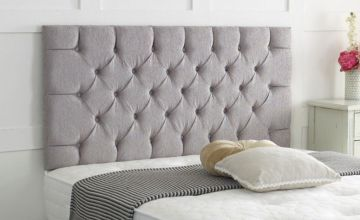 From £19 instead of £56.99 (from Serenity Designs) for a Chesterfield chenille headboard - save up to 66%