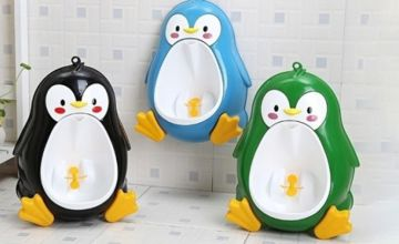 £7.99 instead of £27 (from CN Direct Biz) for a penguin potty training urinal for toddlers - choose from three colours and save 70%