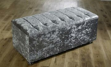 From £49 (from Serene) for a crushed or plush velvet ottoman storage box with fabric or diamond buttons - save up to 61%