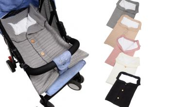 £7.99 instead of £29.99 (from Hey4beauty) for a baby button wool stroller swaddle - choose your colour and save 73%