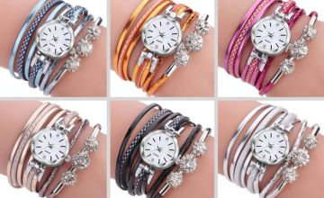 £6.99 instead of £19.99 (from Hey 4 Beauty) for a ladies' wrap bracelet watch - save 65%
