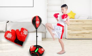 £12.99 instead of £49.97 (from WhoNeedsShops) for a kid's freestanding punching bag set with gloves - save 74%