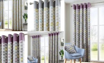 "From £29 for 46"" x 54"" curtains, 46"" x 72"" curtains (£34), 66"" x 54"" curtains (£39), or 66"" x 72"" curtains (£44) from Dreams Living Ltd - save up to 66%"