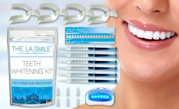 £9.99 instead of £49.99 (from The LA Smile) for a platinum teeth whitening kit - save 80%