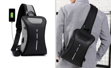 £9.99 instead of £29.99 (from MBLogic) for a 2-in-1 front and back anti-theft USB backpack - save 67%