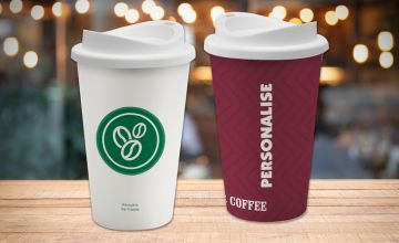 £11.99 instead of £29.99 (from Giftstar) for a personalised reusable coffee cup - save 60%