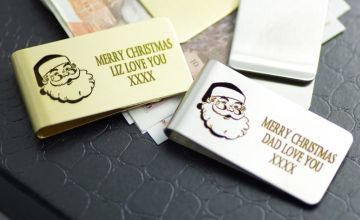 £9.99 (from Engraving Brothers) for a personalised & engraved Father Christmas money clip!