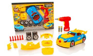 £8.99 instead of £39.99 (from Litnfleek) for a take apart two-in-one toy race car kit – save 78%
