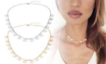 £5.99 (from Your Ideal Gift) for a charm choker set with two necklaces