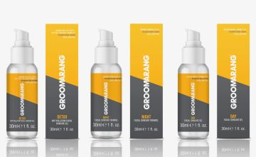 £14.99 (from Groomerang) for two-piece male grooming bundle including day gel and night cream or £21.99 for three-piece set with day gel, night cream and facial skincare gel