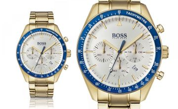 £139 instead of £392.01 (from The Best Watch Shop) for a Hugo Boss gold 1513631 trophy watch - save 65%