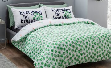 From £9.99 instead of £34.98 (from Five Minutes More) for a brussel sprouts reversible duvet cover set - choose your size and save up to 71%