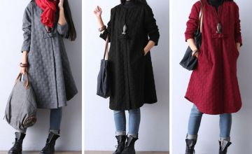 £14.99 instead of £59.99 (from Blu Fish) for a women's longline coat - save 75%