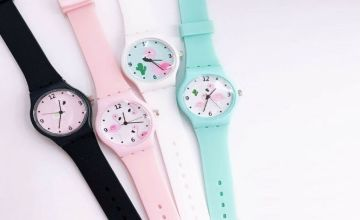 £5 instead of £19.99 for a Casual Flamingo Watch - 4 colours to choose from Hey4Beauty - save 75%
