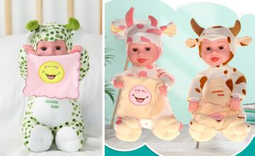£12 instead of £39.99 (from Hey4Beauty) for a 35cm peek-a-boo baby doll – choose from eight options and save 70%
