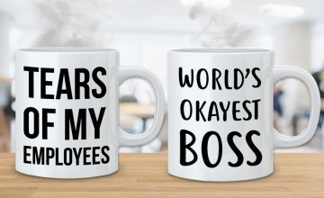 £4.99 instead of £12.99 (from Deco Matters) for a novelty boss mug or £8.99 for a pair of mugs - save up to 62%