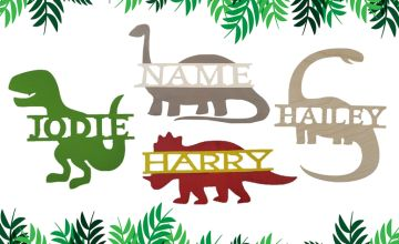 £9.99 instead of £36 (from Name Signs) for a children's wooden personalised dinosaur name sign - choose your design and save 72%
