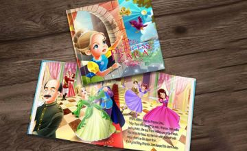 £4.99 instead of £14.99 (from Dinkleboo) for a softback personalised 'The Princess' story book or £7.99 for a hardback personalised 'The Princess' story book - save up to 67%