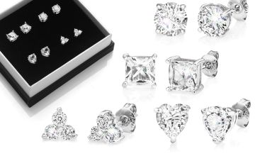 £10.99 instead of £30 for four pairs of earrings made with crystals from Swarovski ® - save 63%