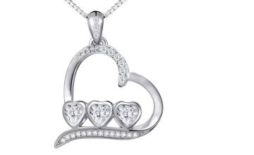 £7.99 (from Sreema London) for a 925 sterling silver bezel heart necklace
