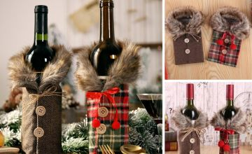 £3.99 instead of £19.99 (from WowWhatWho) for a Christmas wine bottle cover, or £5.99 for a set of two - choose from two designs - Save 80%