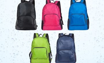 £7.99 instead of £19.99 (from My Brand Logic) for a waterproof foldable backpack - choose your colour and save 60%