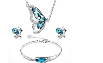 £7.49 (from Flashing Pineapple) for a four-piece butterfly jewellery set