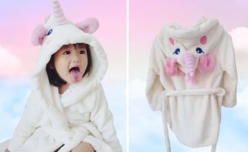 £9.99 instead of £49.99 for a kids unicorn bath robe from Blufish - save 80%
