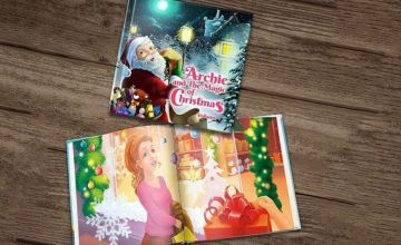 £4.99 instead of £14.59 (from Dinkleboo) for a soft back 'The Magic of Christmas Volume 1' personalised story book or £7.99 for a hardback - save up to 66%