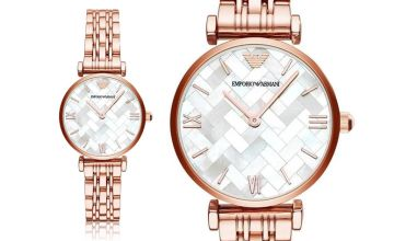 £139 instead of £279 (from The Jewel Hut) for a Emporio Armani AR11110 rose tone ladies bracelet watch - save 50%