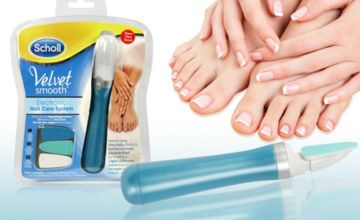 £6.99 instead of £12.97 (from TigerZilla) for a Scholl velvet smooth electronic nail care system - save 46%
