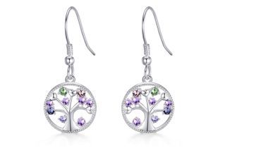 £7.99 instead of £17.99 (from Philip Jones) for a pair of silver Chakra tree of life drop earrings made with crystals from Swarovski ® - save 56%