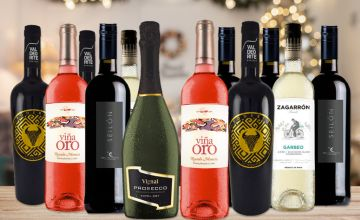 £49.99 (from San Jamon) for a 12-bottle mixed case of Spanish wine
