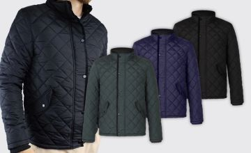 £20.99 (from Bluapparel) for a men's quilted jacket - choose your colour