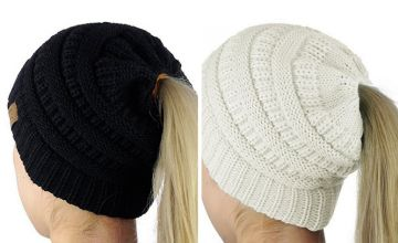£3.98 instead of £11.99 (from Bellap) for a ponytail beanie hat - save 67%
