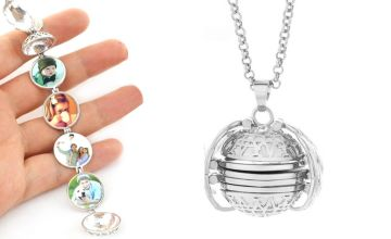 £4.99 instead of £19.99 (from Blu Fish) for a photo locket necklace - save 75%