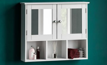 From £19 for a mirrored bathroom wall cabinet from Home Discount - save up to 60%