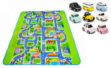 £14.99 instead of £29.99 (from WowWhatWho) for a 160cm x 130cm urban traffic play mat and cars or £18.99 for a 200cm x 160cm urban traffic play mat and cars - save up to 50%